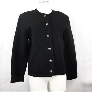 Vintage Black Wool Tally-Ho Blazer